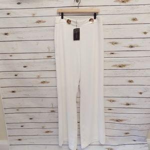 Zara Woman ivory trousers NWT